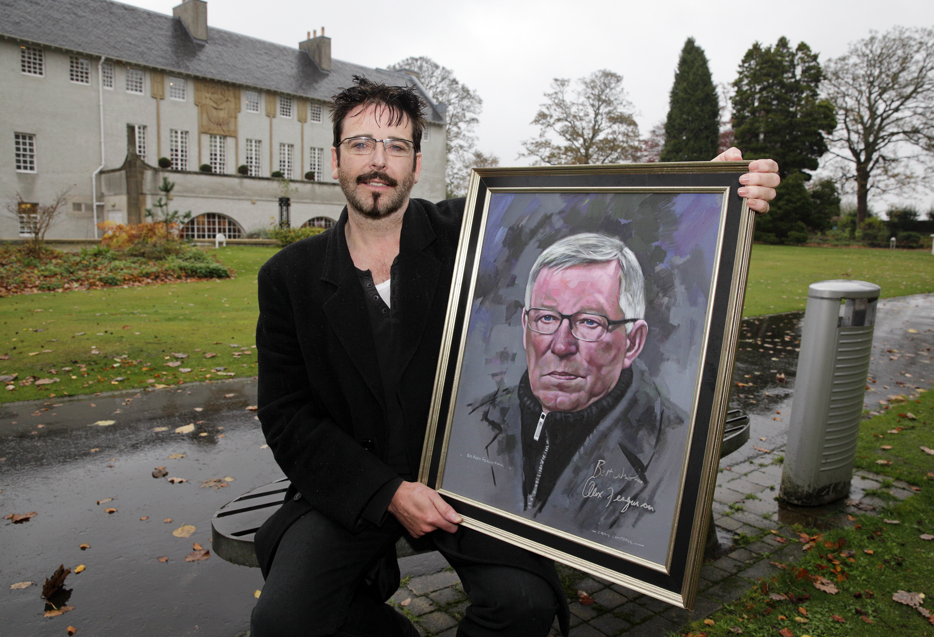 Craig Campbell with his portrait