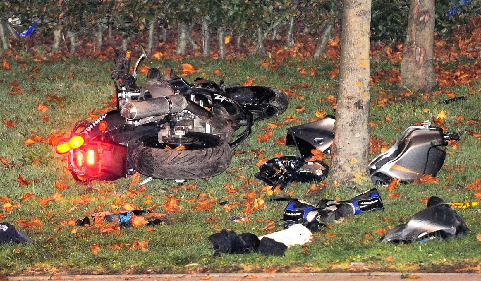 The Kawasaki following the crash near Altens. Credit: Kevin Emslie.