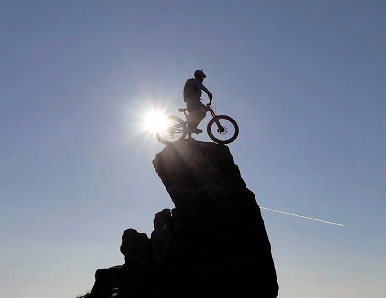 Danny MacAskill during his latest daring stunt