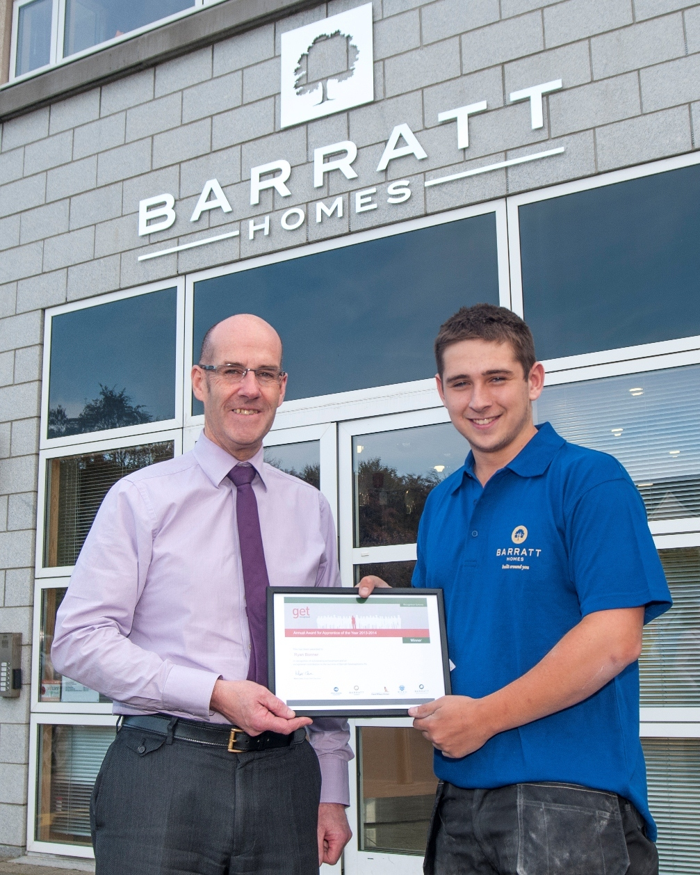 David Stewart with Apprentice of the Year Ryan Bonner