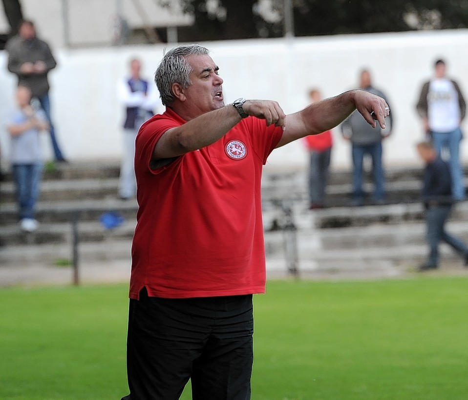 Davie Kirkwood oversaw a 1-1 draw this afternoon