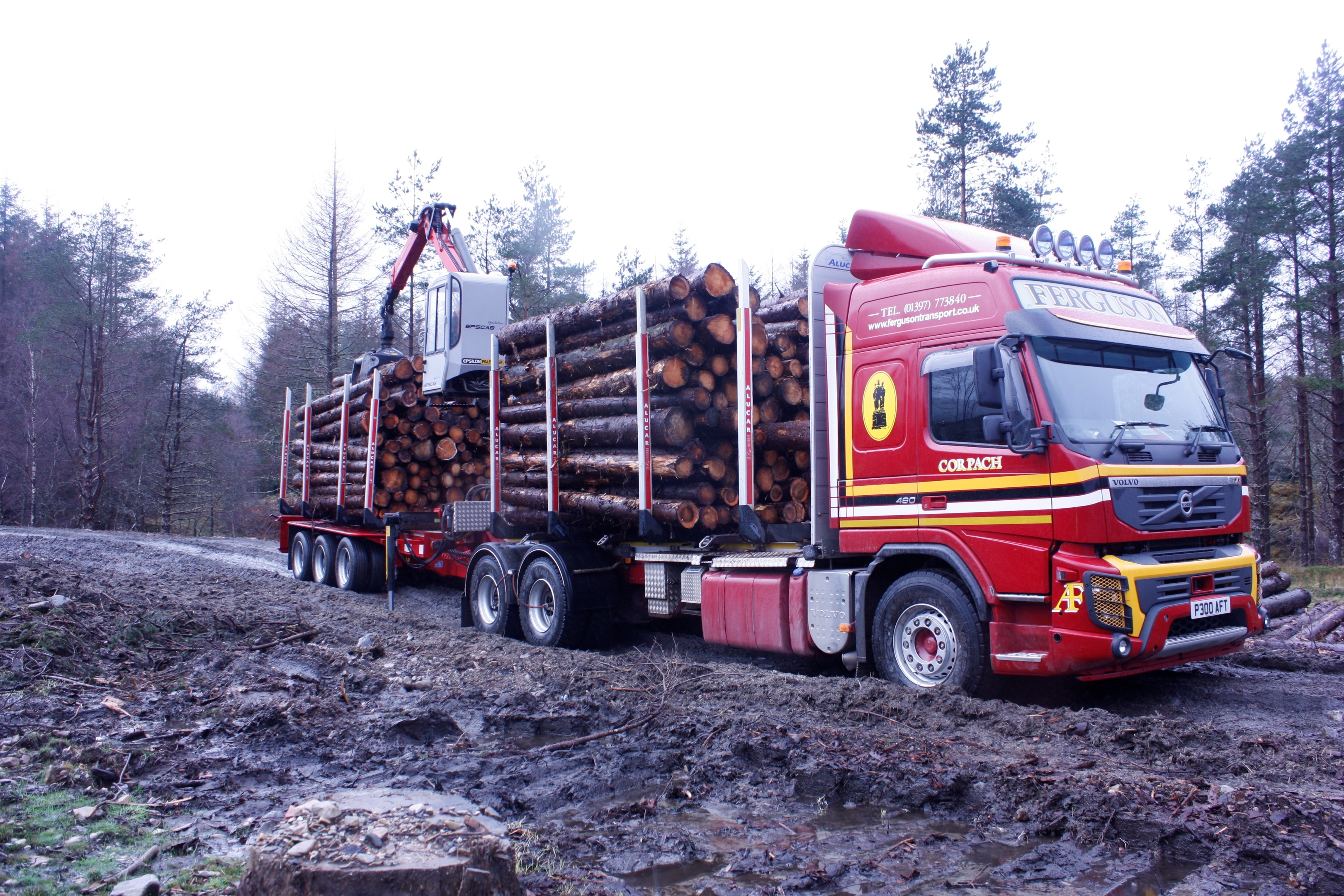 Haulage by road has been the traditional method of harvesting Scotland's forests.