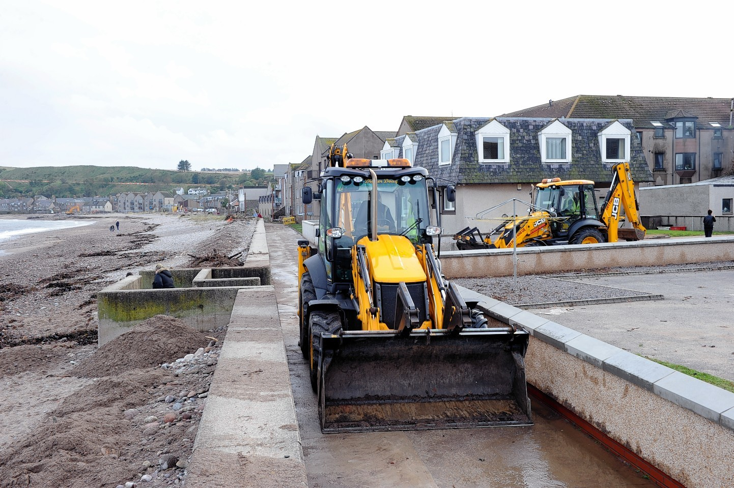 Flooding clean up in Stonehaven