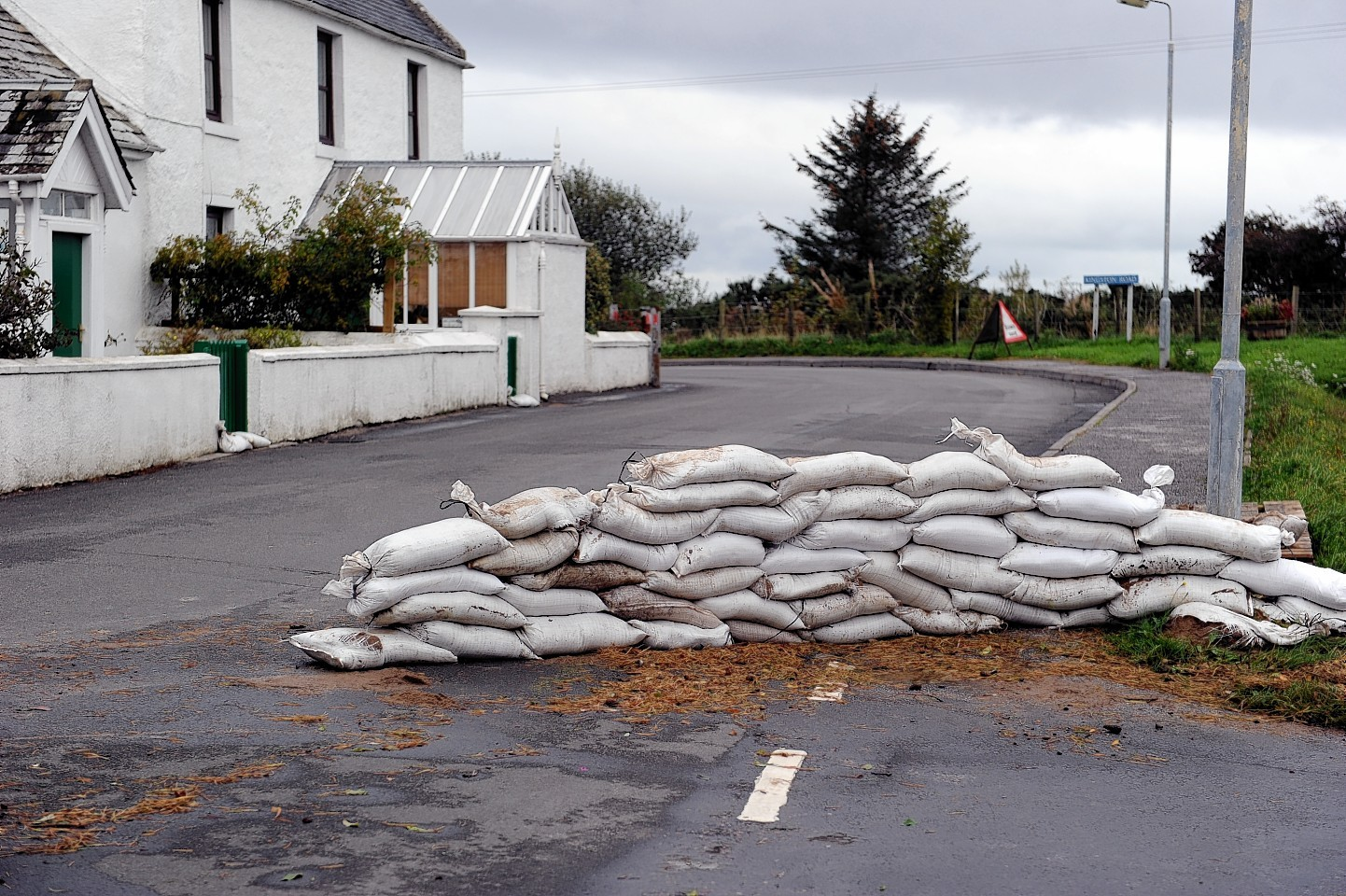 Flooding clean up in Garmouth