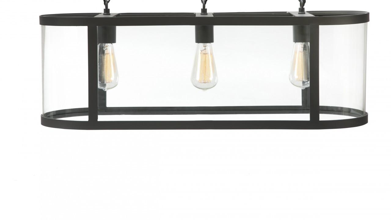 Garden Trading Cadogan 3 Light Pendant Lamp - Charcoal, £245, www.amara.com