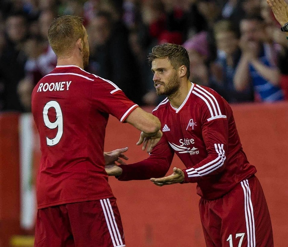 Adam Rooney and David Goodwillie continue to play up front together