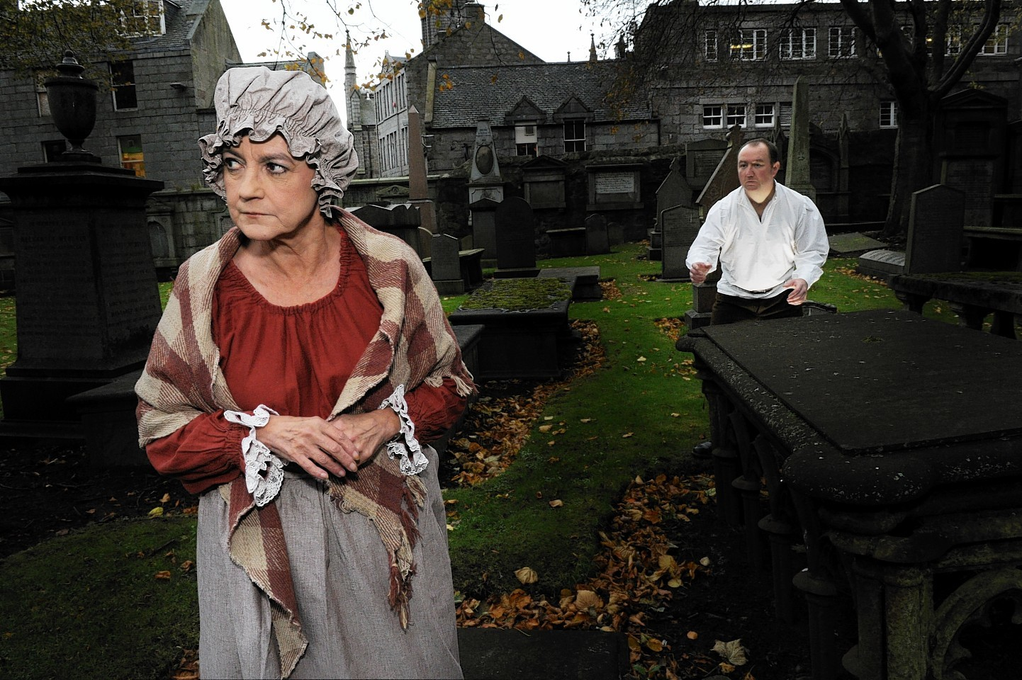 The grave robbing scandal re-enacted at Aberdeen cemetery