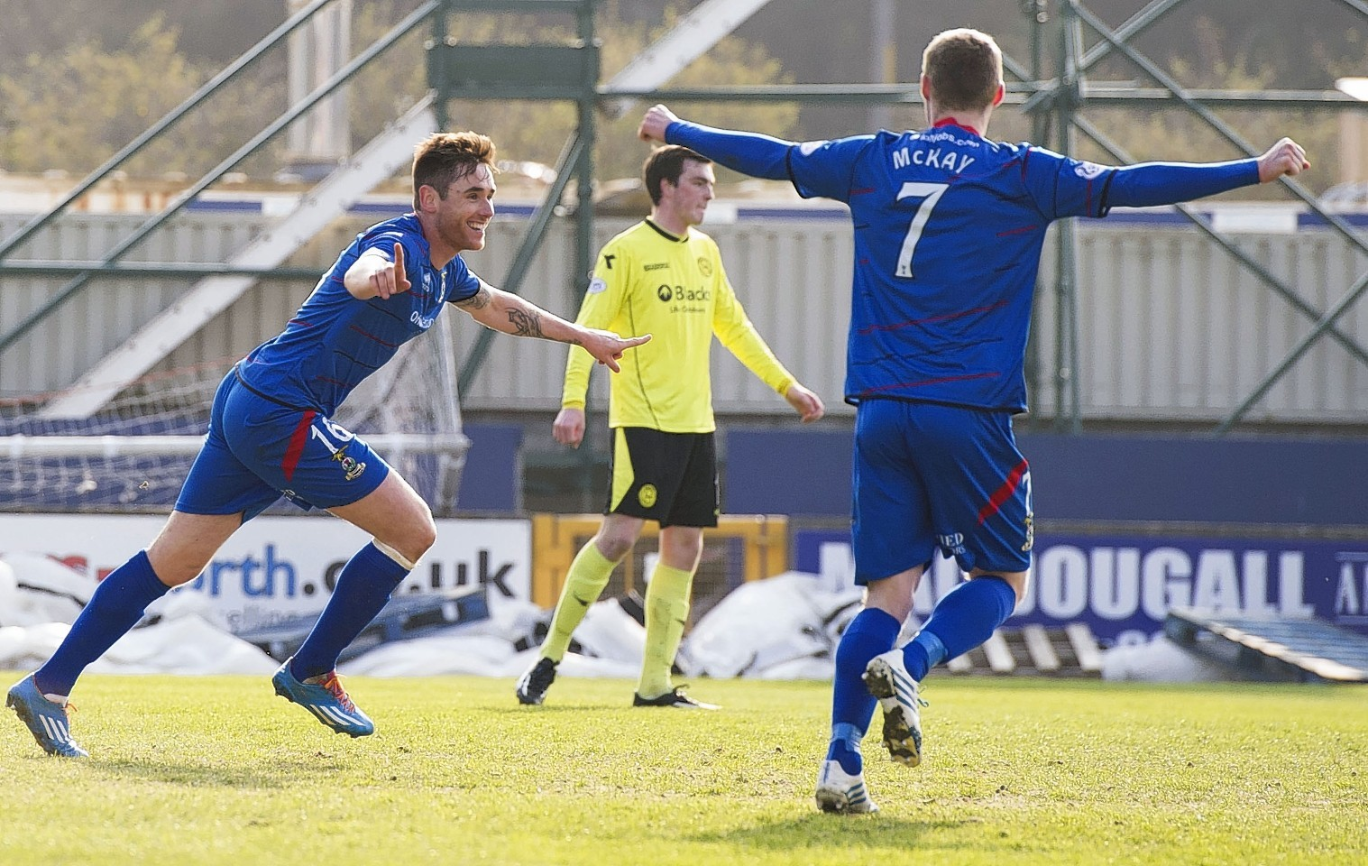 Greg Tansey celebrates scoring for Caley Thistle against St Mirren