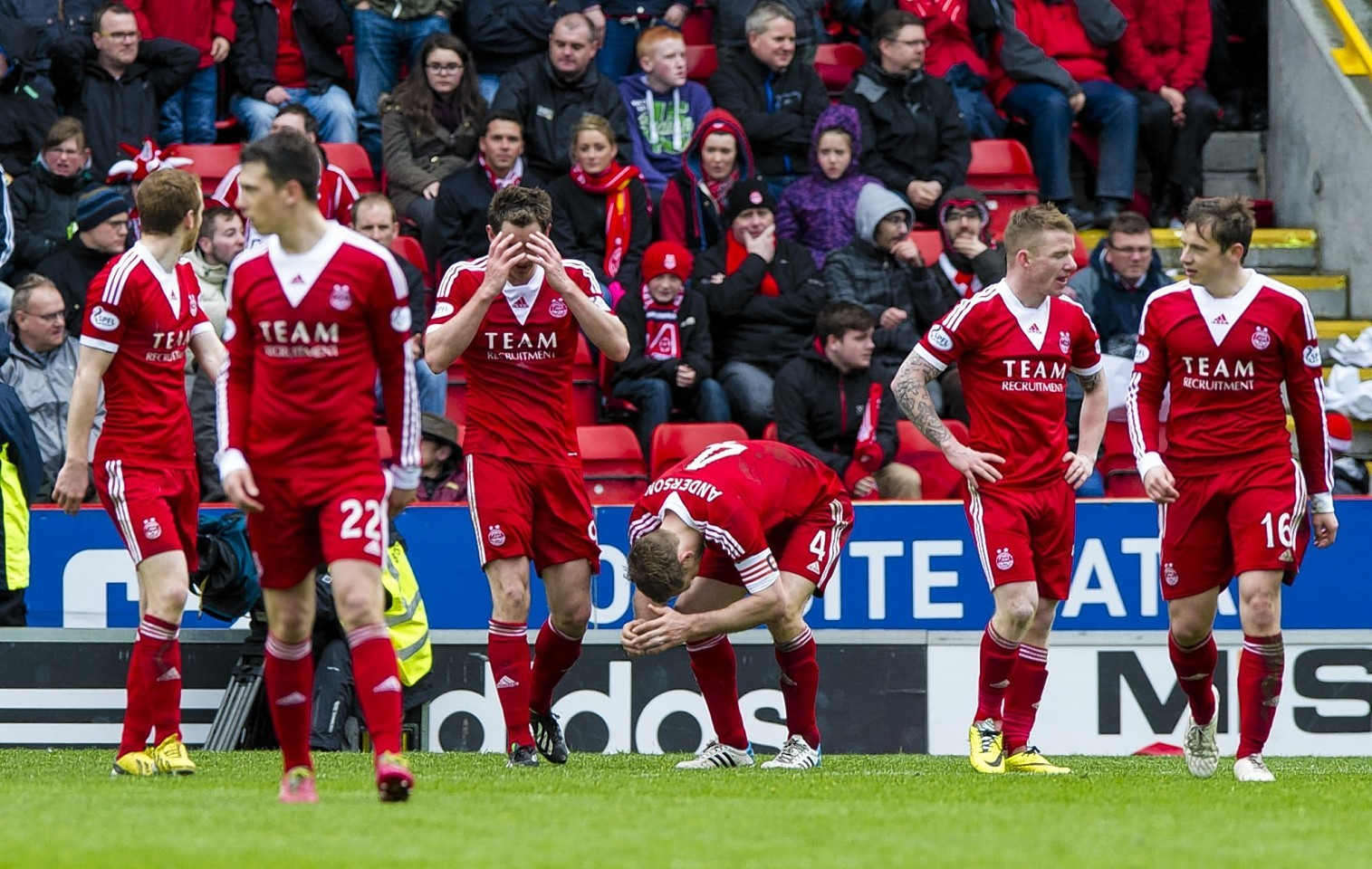 The Dons players were left gutted after