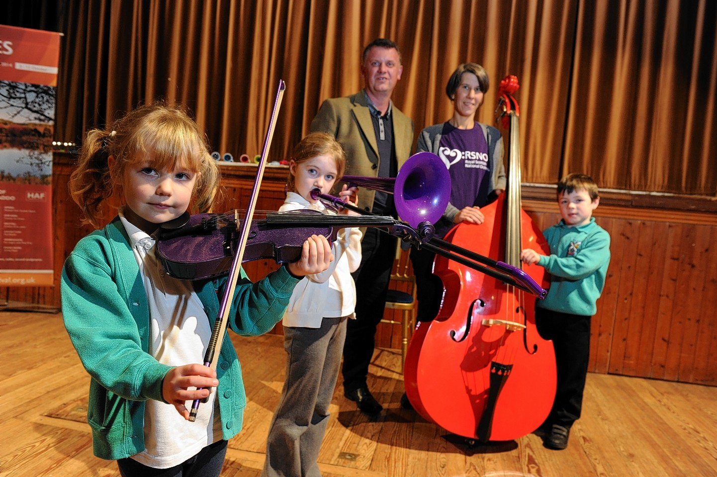 Royal Scottish National Orchestra (RSNO) at Haddo House, held a music workshop to children from local primary schools as part of this years Haddo Arts Festival.