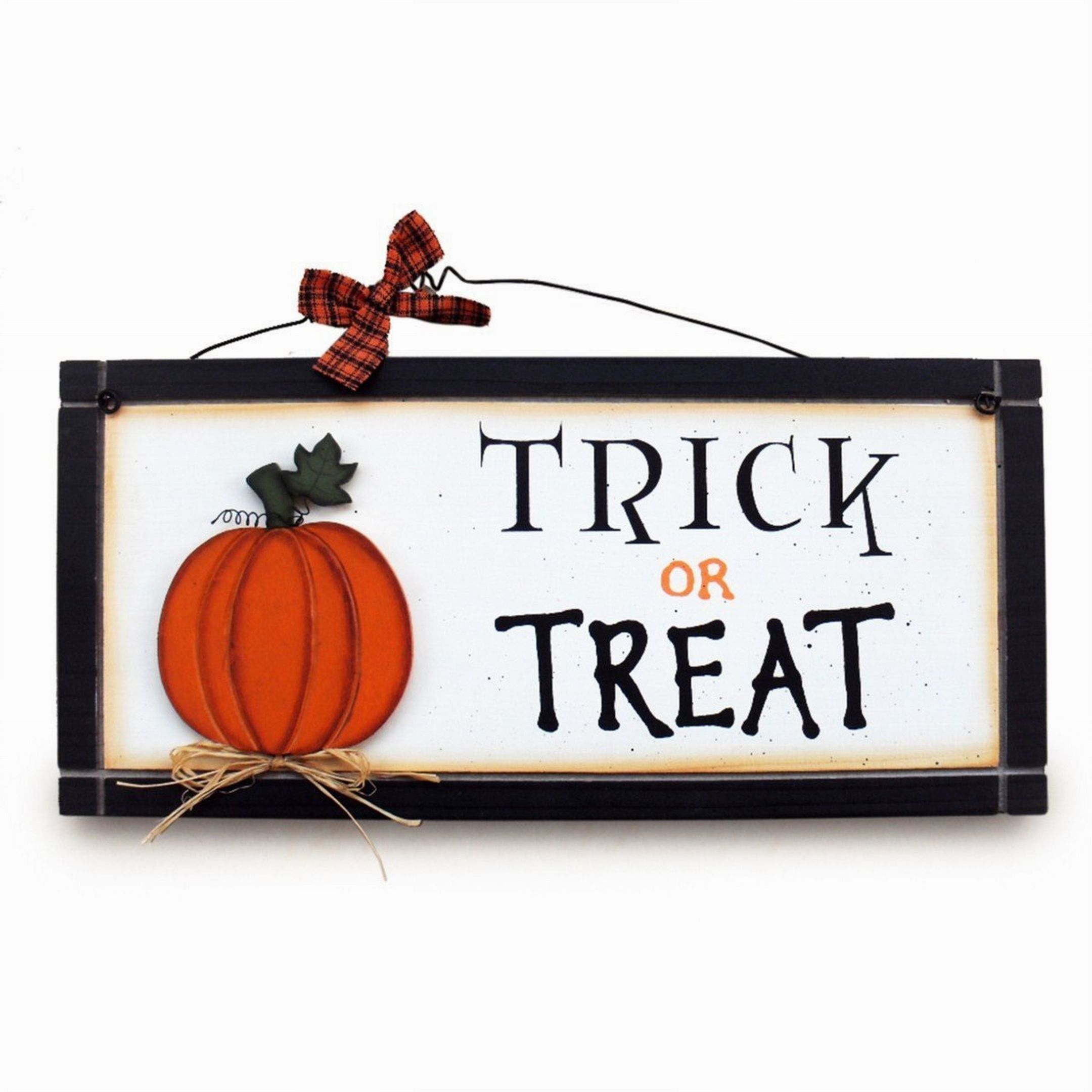 Heartwarmers Fun Trick or Treat Pumpkin Wooden Sign, £7.99 - Amazon