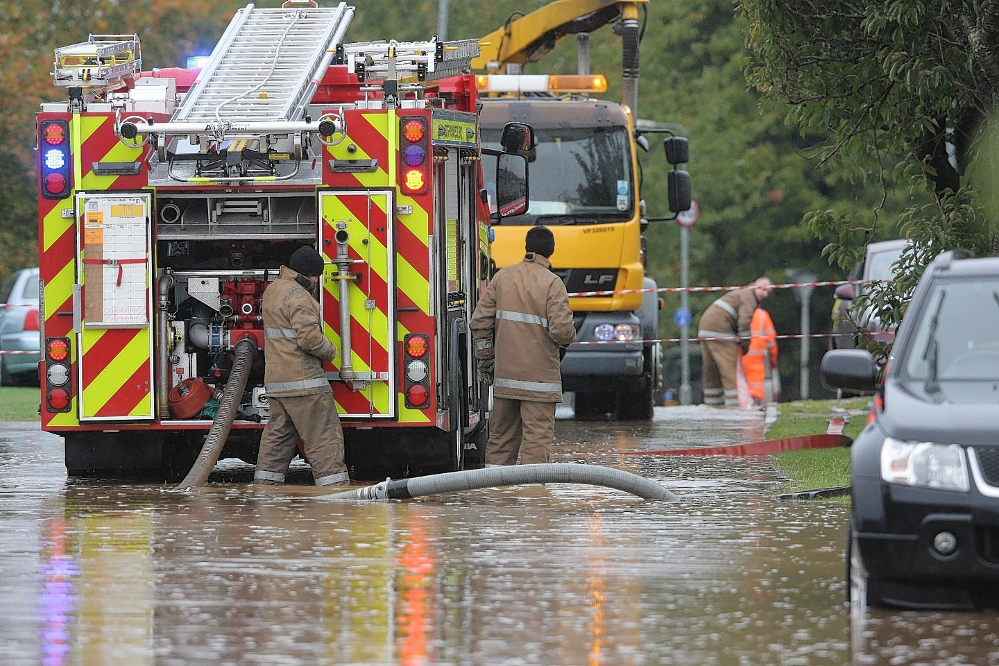 Flooding in the Smithton area of Inverness