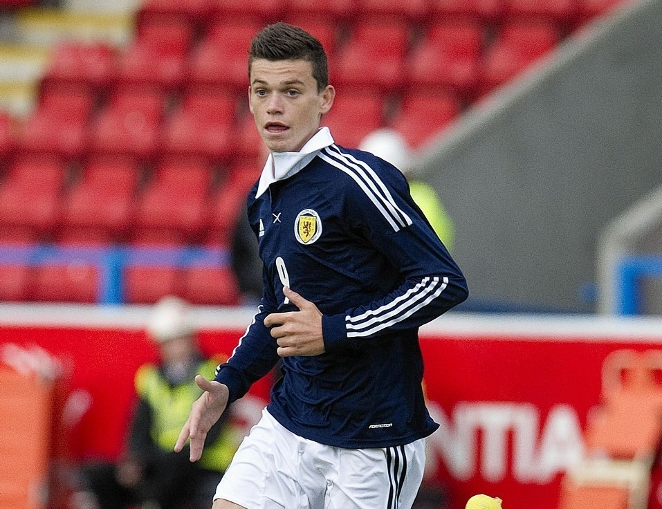 Jack Harper playing for Scotland