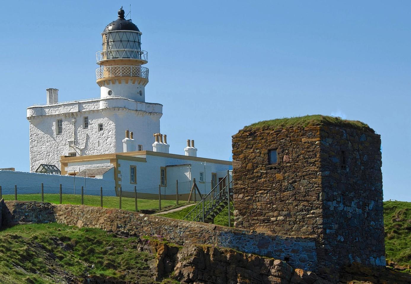 Kinnaird Head Lighthouse and the Winetower.