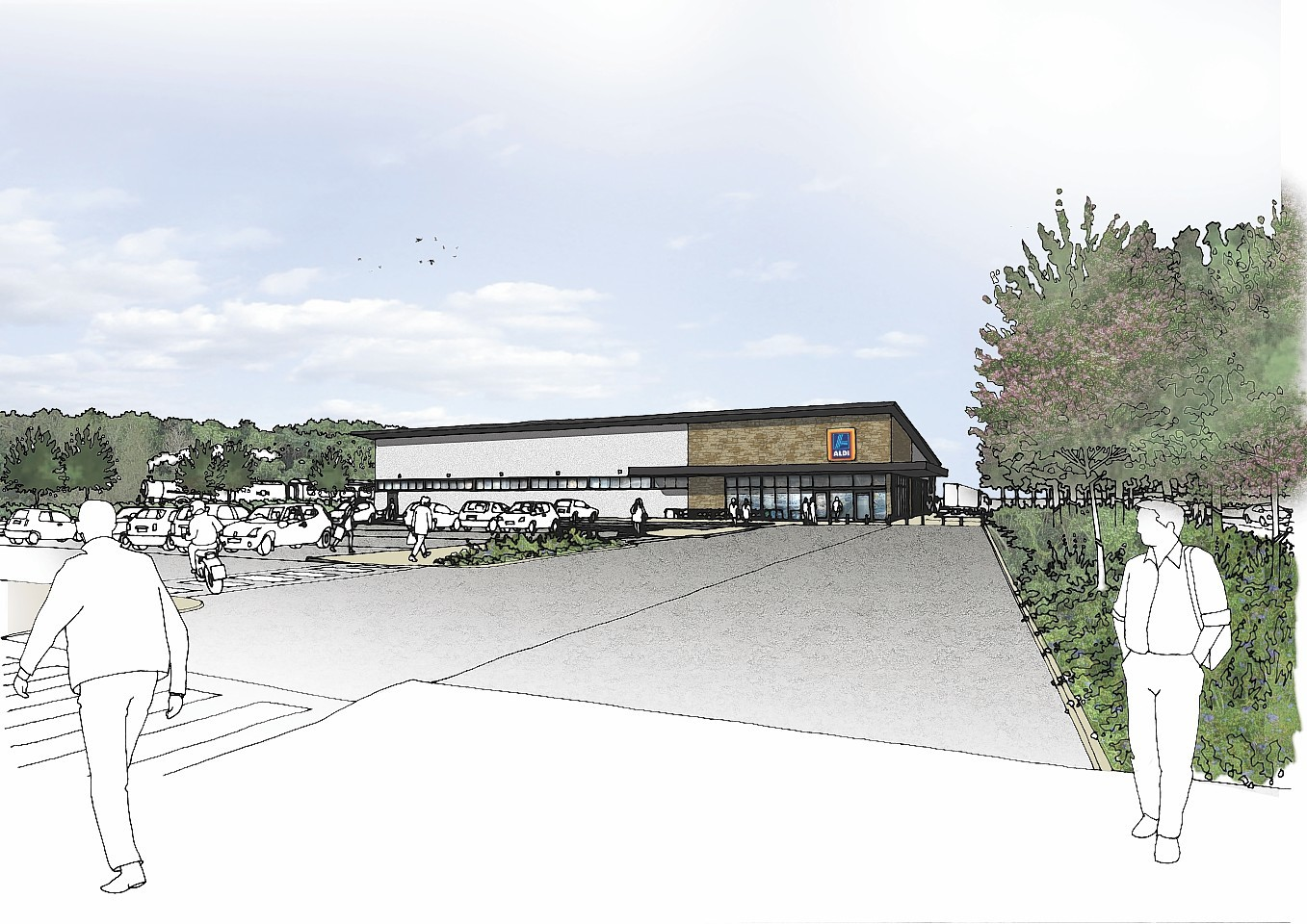 Artist's impression of the proposed retail park at North Road, Fort William