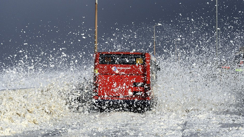 Bad weather means that buses in Stornoway will not run this evening.