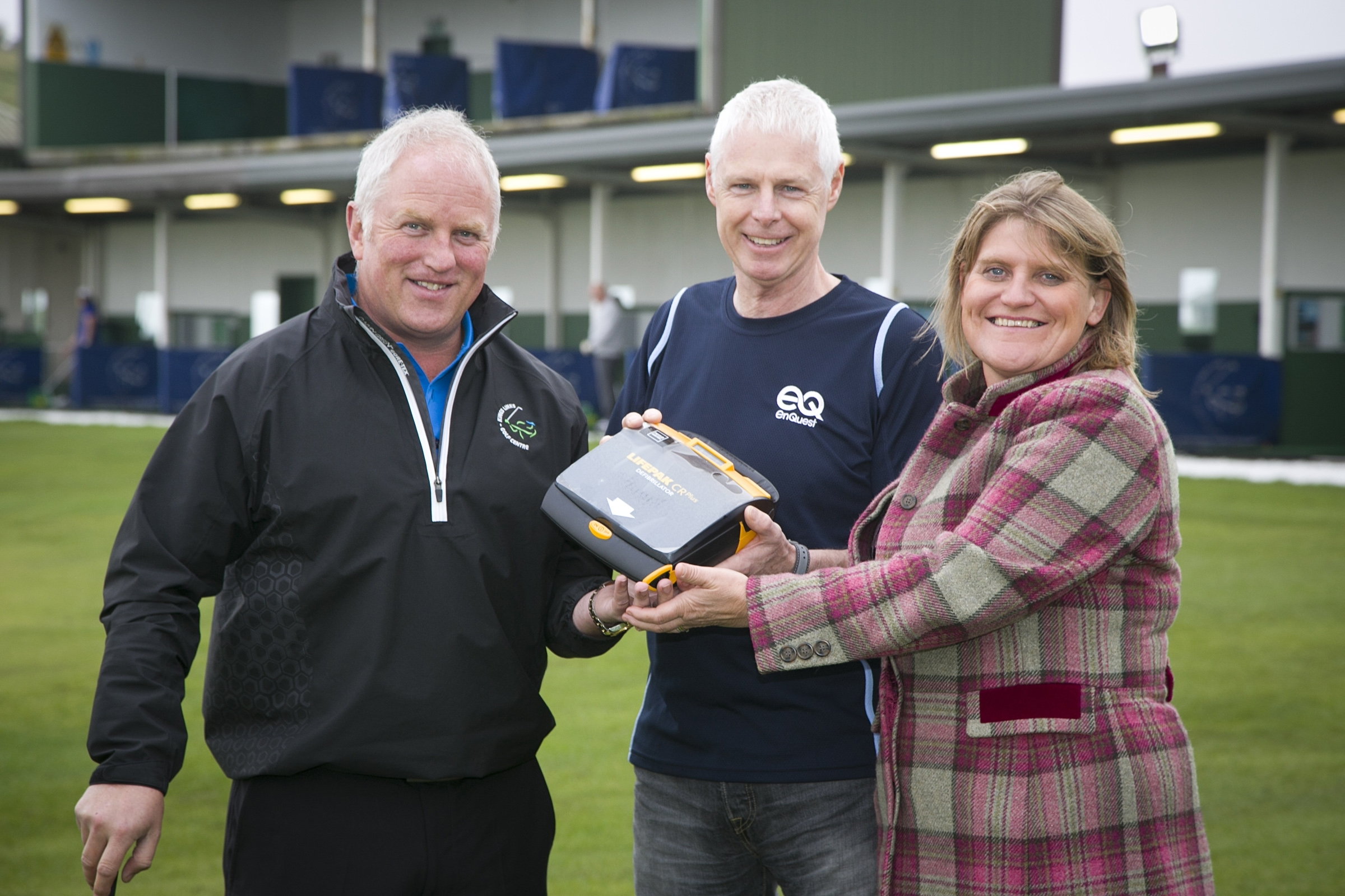Paul Girvan (direcotr of golf, Kings Links), John Atkinson (Head of HSE+A at EnQuest) and Allison Walker (director of sales and marketing, Falck Safety Services)