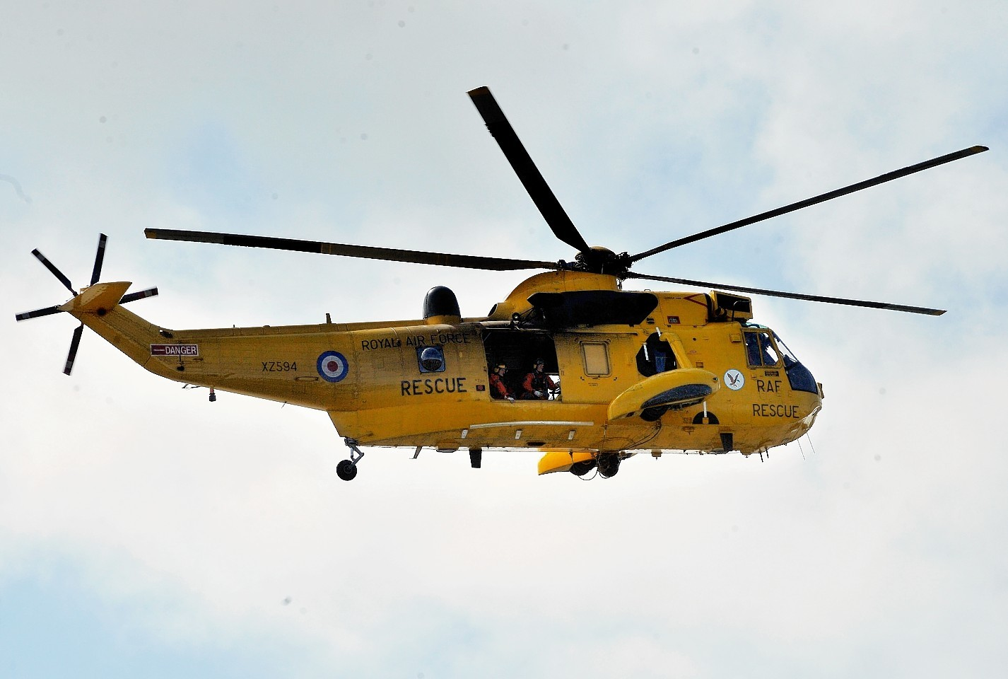 The man was transported to Aberdeen Royal Infirmary by helicopter