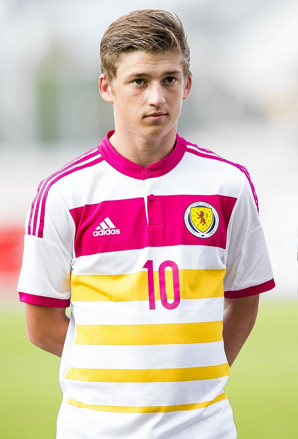 Gauld is celebrating his first call up to the senior squad