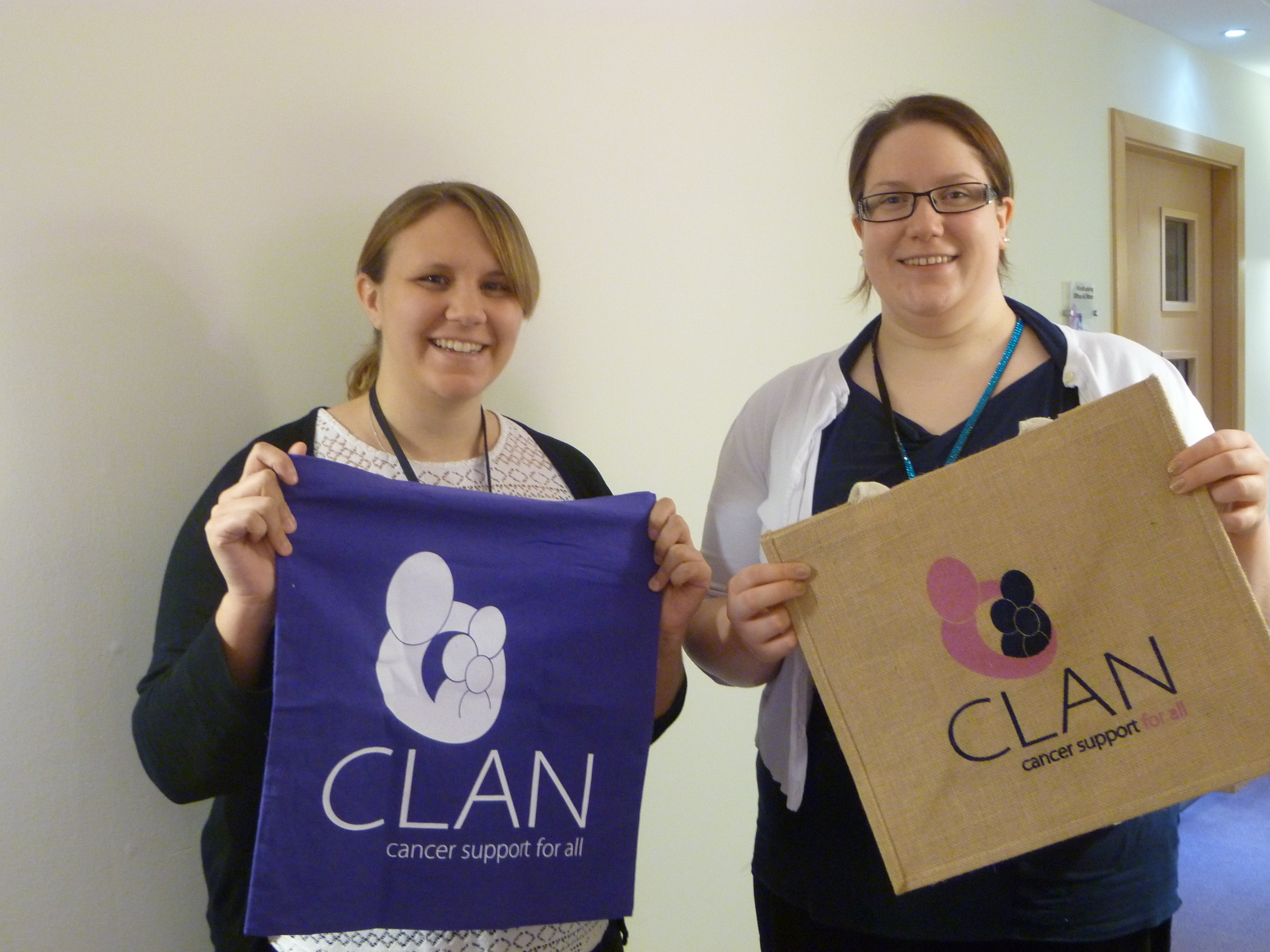 Members of the CLAN team Steph Dowling(left) and Zoe Barbour(right)