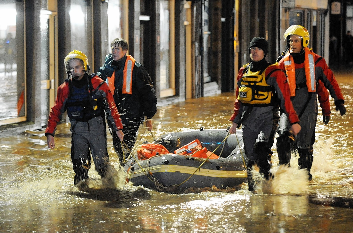 Homes were devastated in Stonehaven in 2009 and 2012 when the river burst its banks