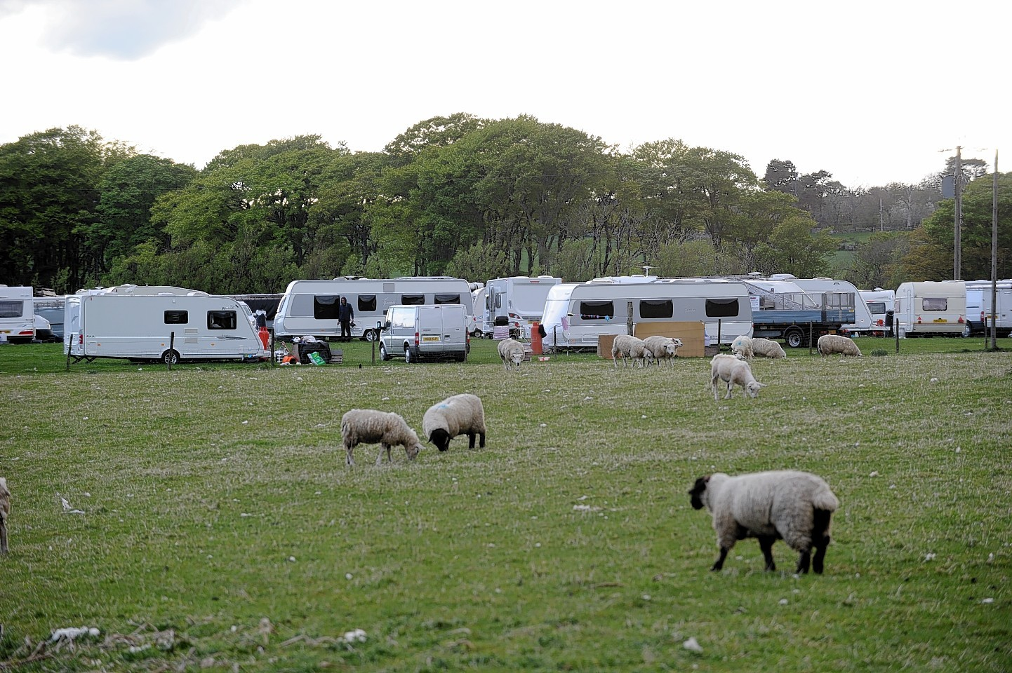 A north-east travellers camp