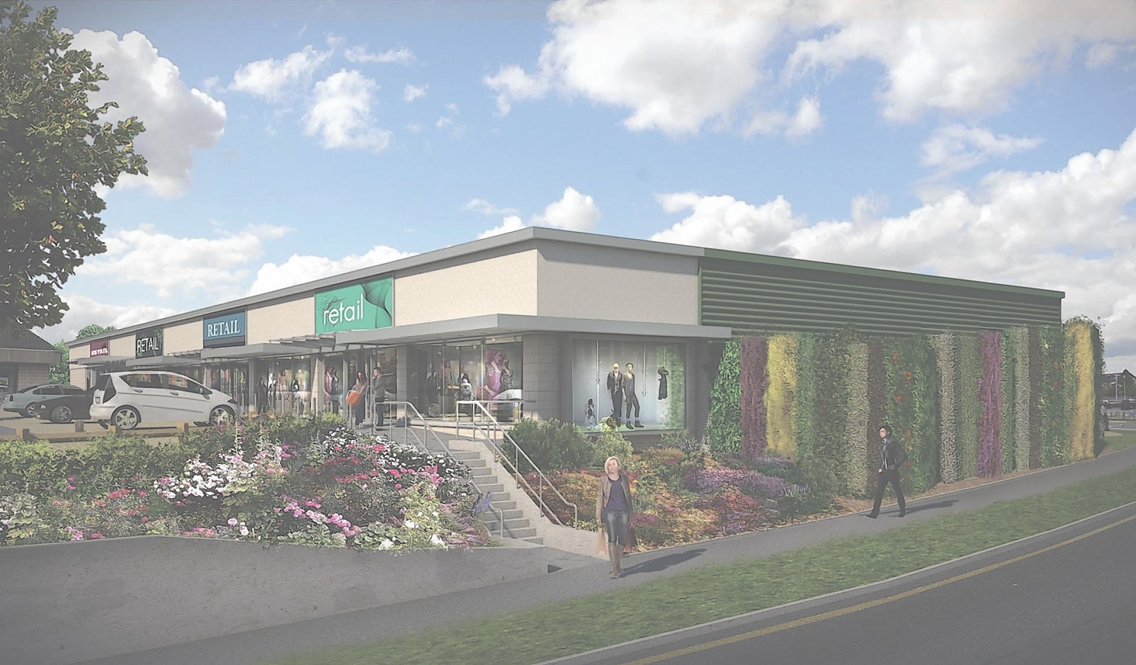 Artist's impression of the extension to Westhill Shopping Centre