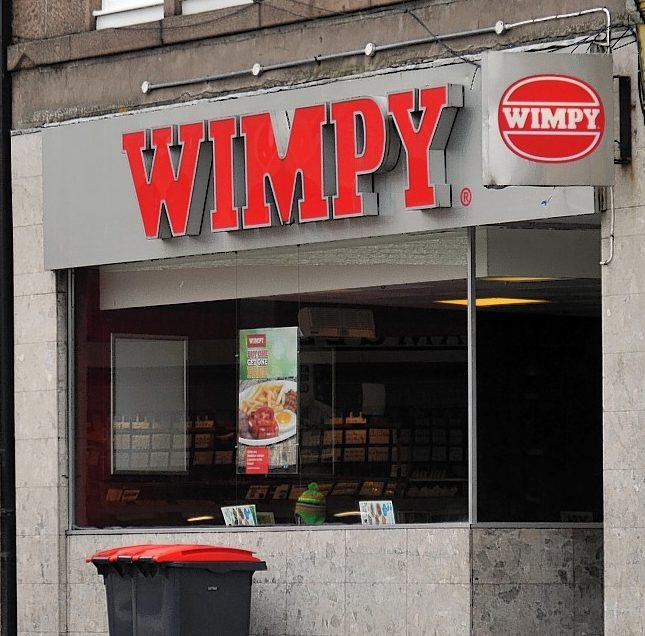 The Wimpy in Peterhead.