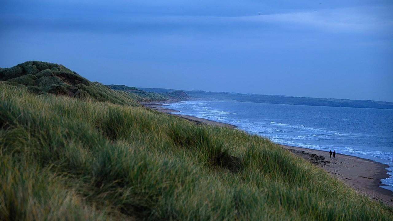 Dark clouds gather along the east coast near Aberdeen today