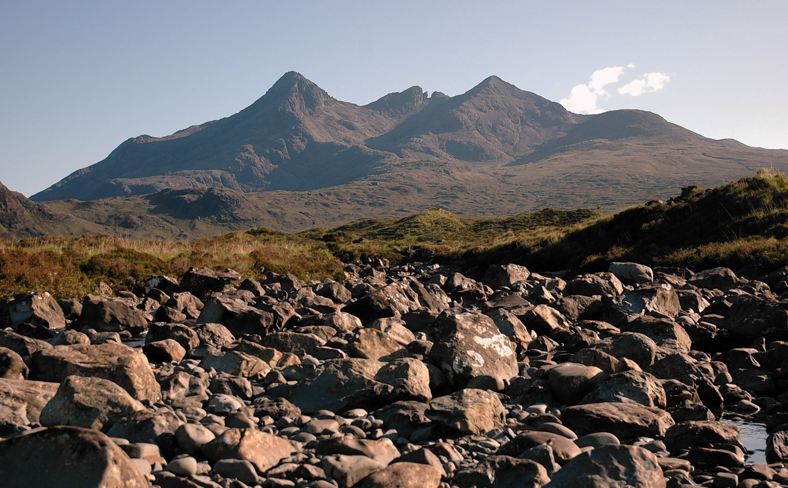 The Cuillin on the Isle of Skye provided the backdrop to the spectacular sold out open-air concert.