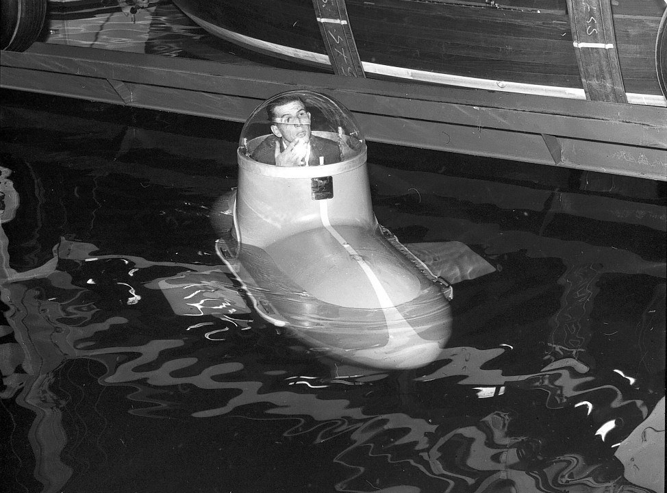An amphibious vehicle in an archive of weird and wacky innovations has been unearthed by an amateur historian as he trawled through a collection of images spanning the last 100 years