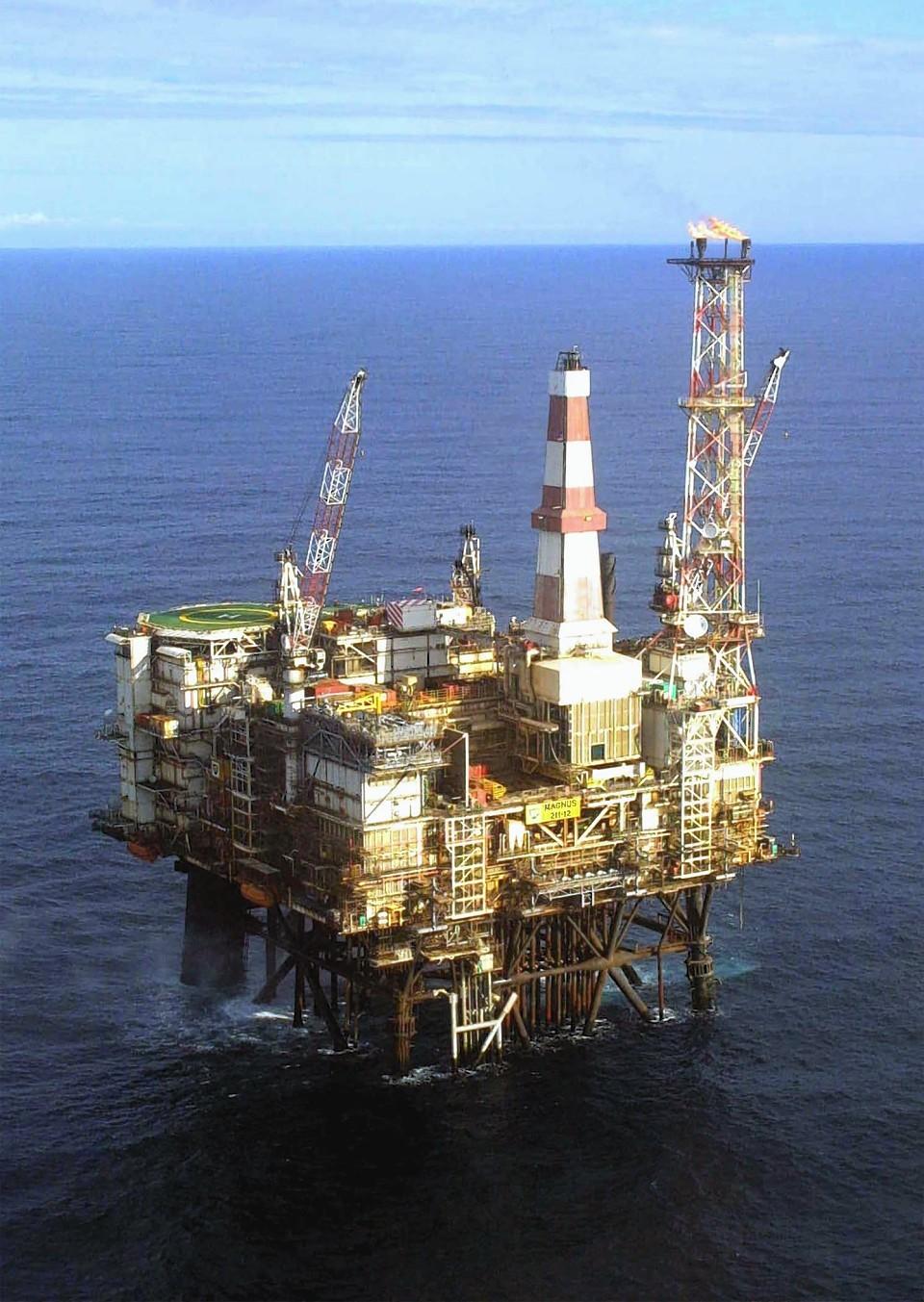 The Magnus platform in the North Sea.