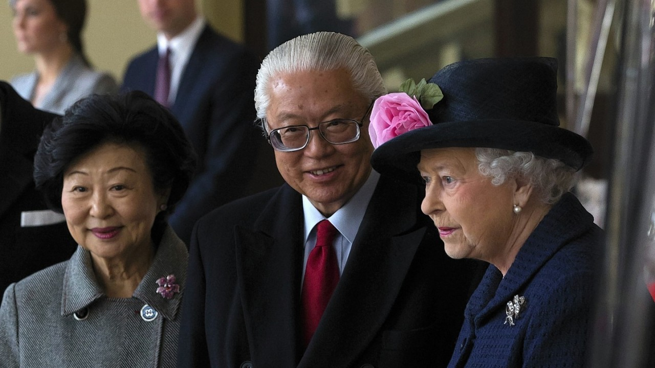 The ceremonial welcome  for the Singaporean president at the start of a state visit at Horse Guards Parade in London