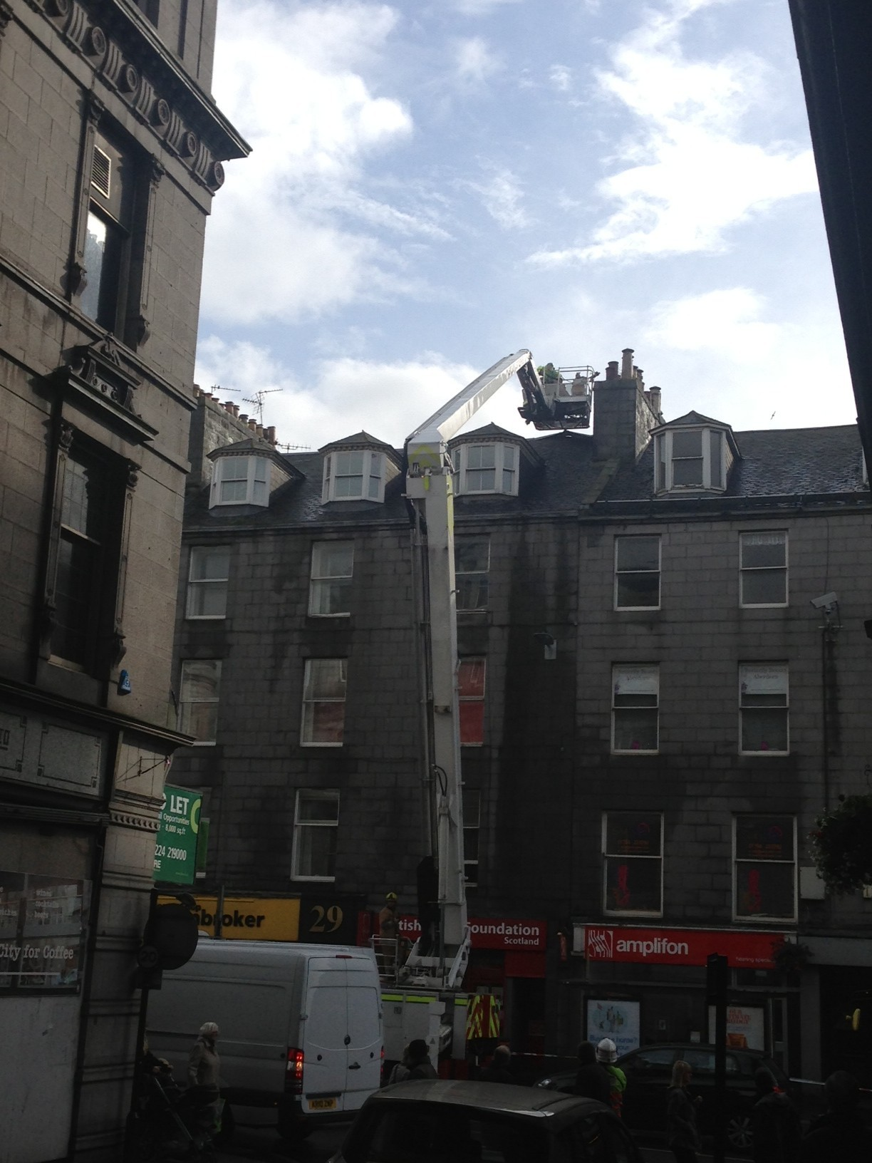 """Fire crews were called to deal with an  """"unsafe building"""""""