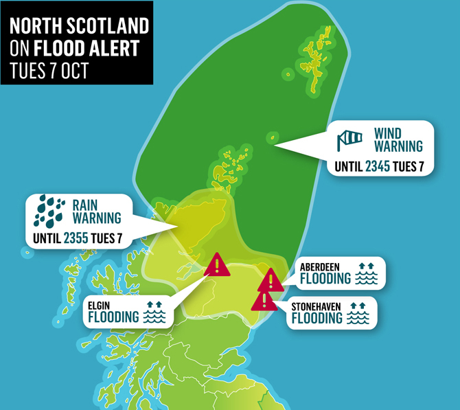North of Scotland weather warnings
