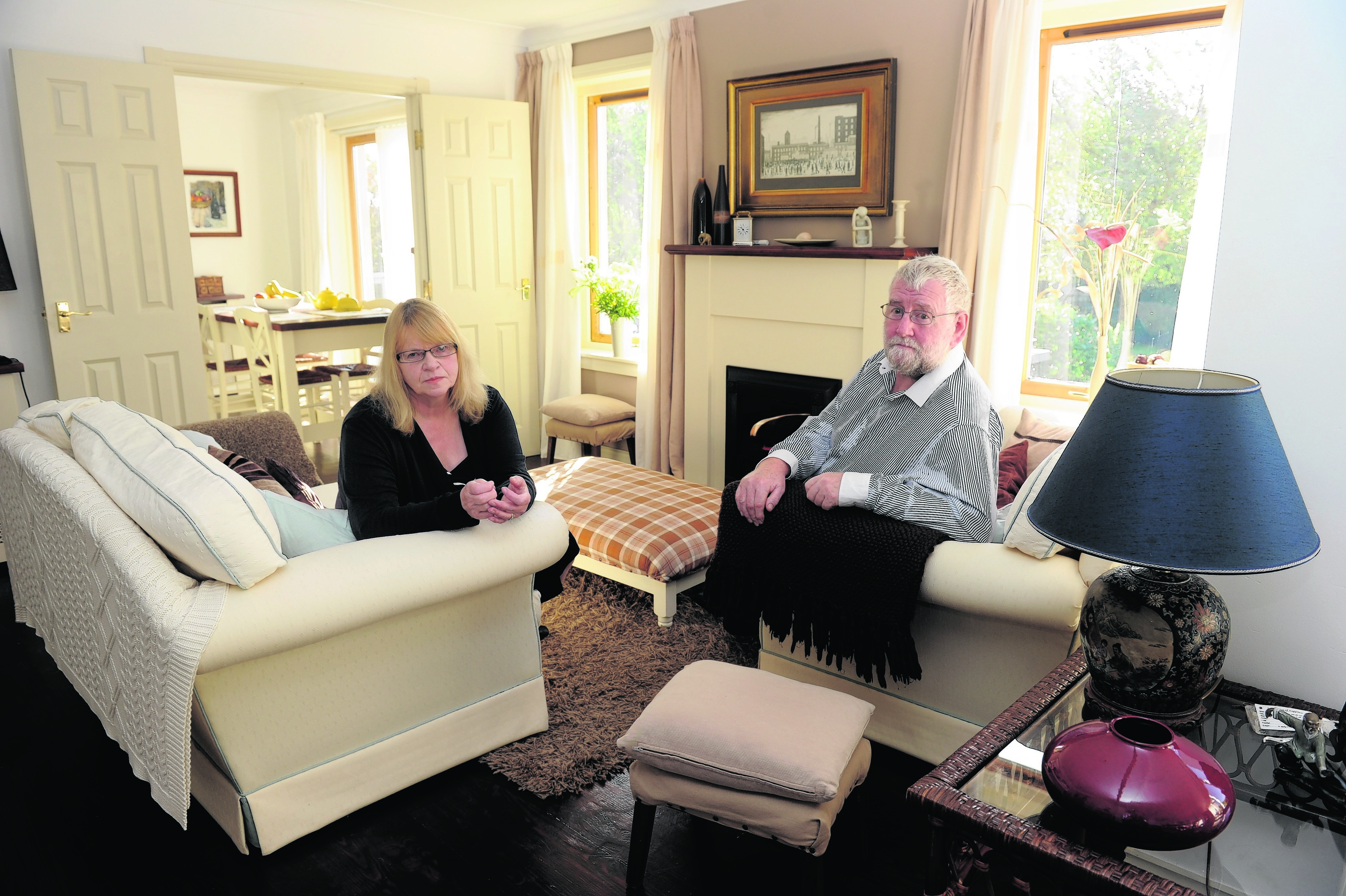 Kerry and Anne McCusker owners of Craigowrie House in Garmouth, Moray