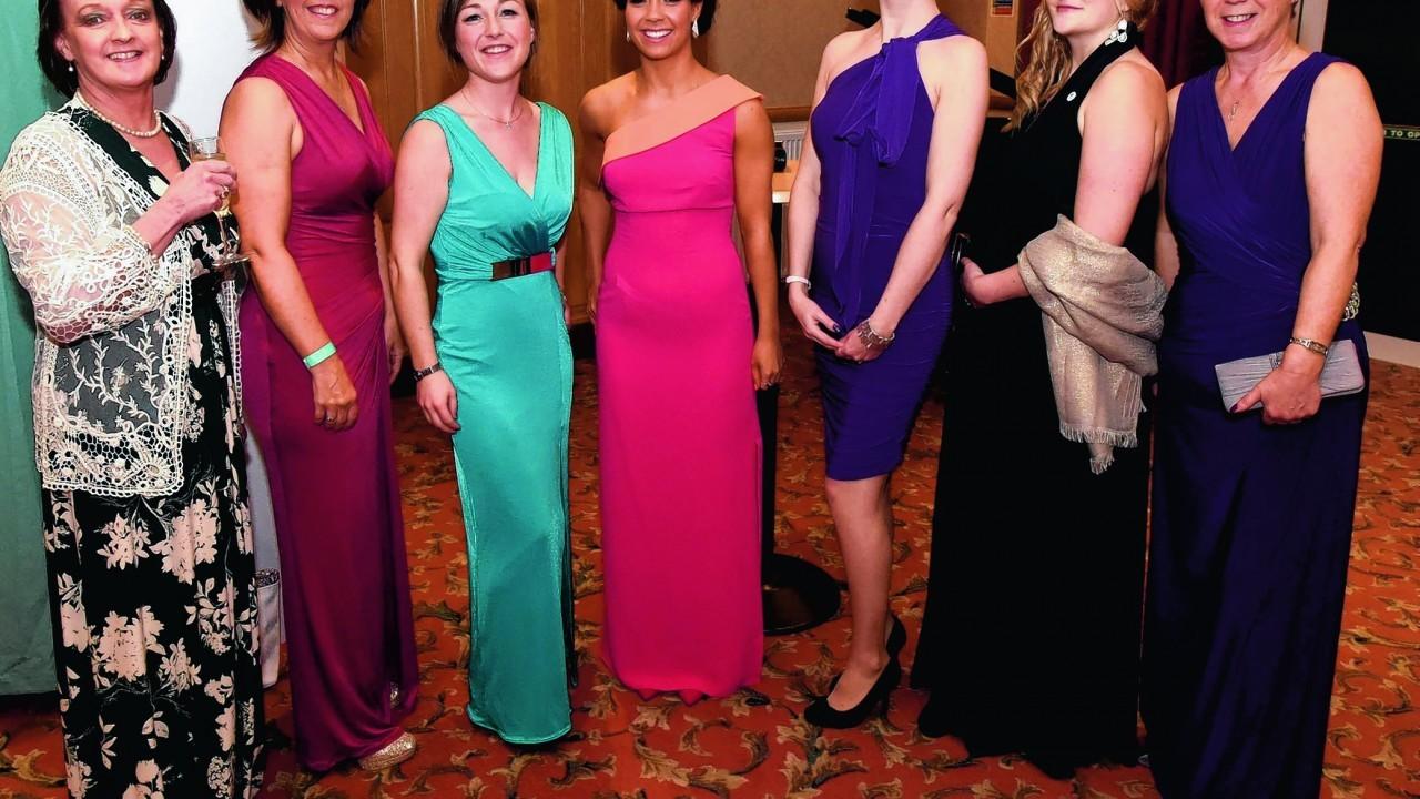 Shirley Smith, Brenda Farquhar, Sine MacDonald-Coull, Rebecca Farquhar, Hazel Gray, Morag Reid and Lesley MacDonald.