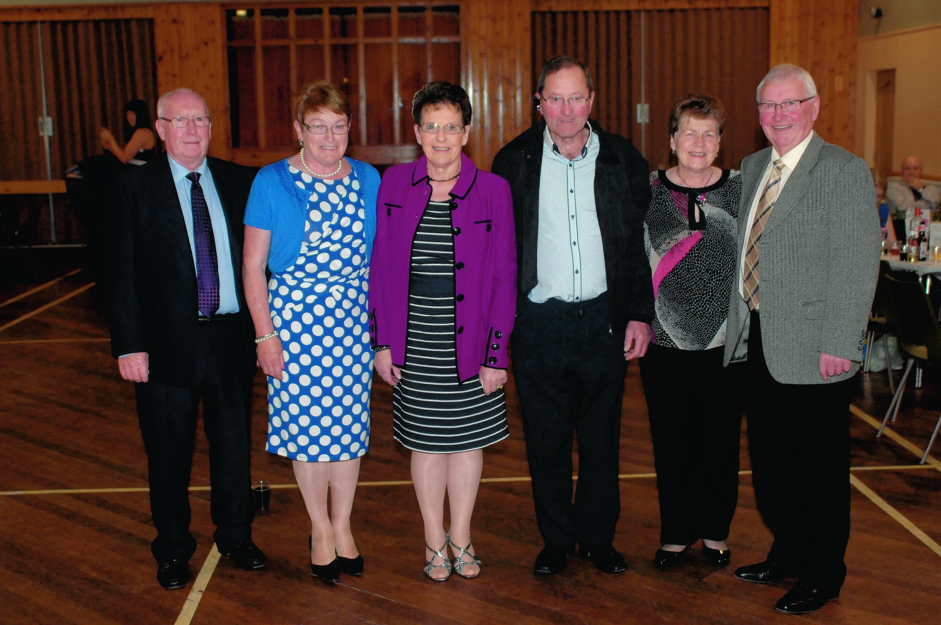 Jimmy Hepburn, Margaret Hepburn, Ena Robertson, Will Robertson, Ronnie Aiken and Brenda Aiken