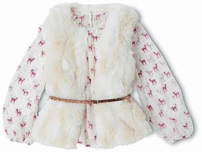 Deer blouse and gilet with belt from Marks  & Spencer