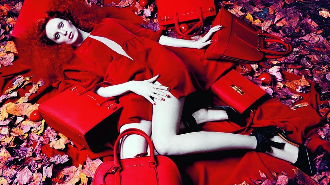 Red bags, from £135; all Kurt Geiger London