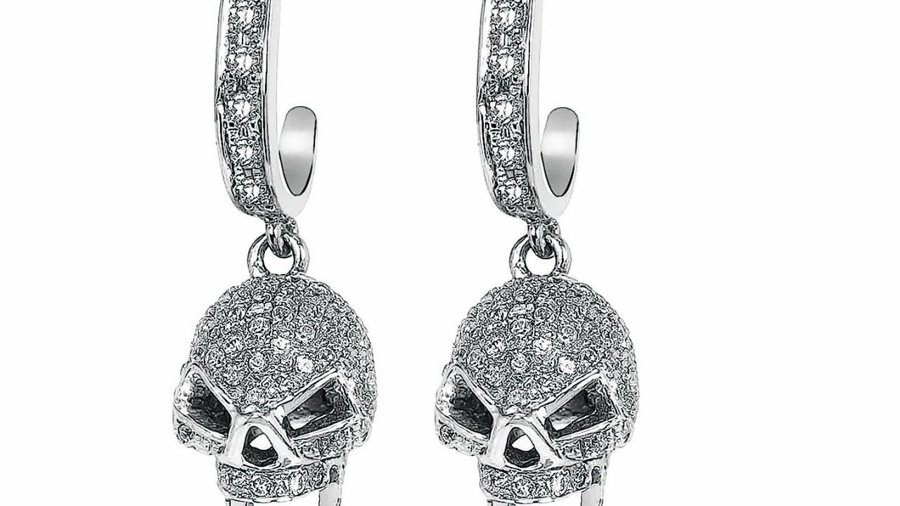 Vega crystal sterling silver skull white earrings, £97, from Tresor Paris, available in Ernest Jones or Beaverbrooks