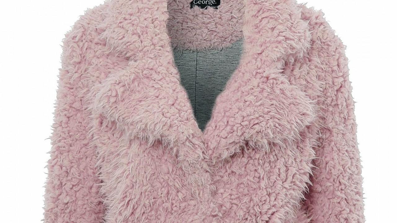 George at ASDA pink teddy coat, £25
