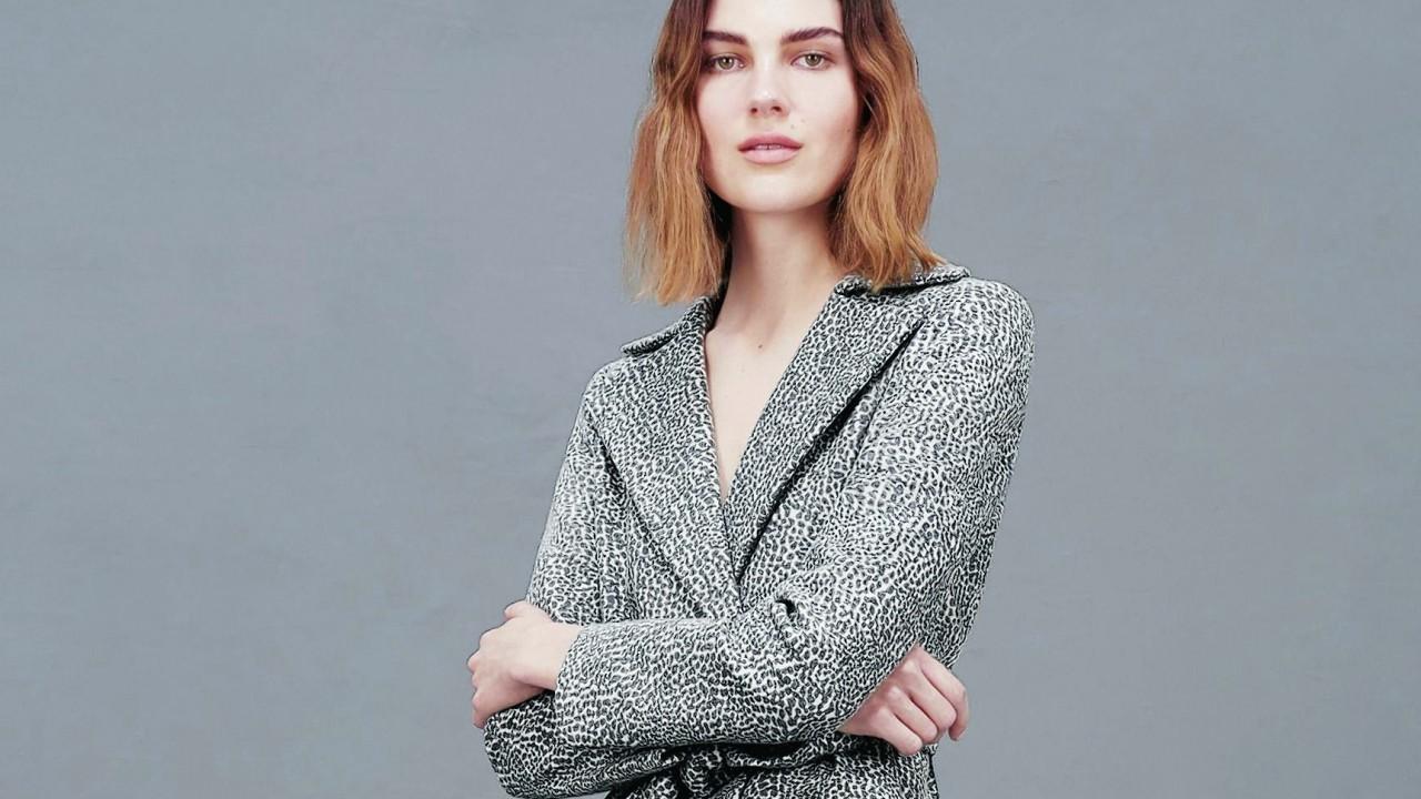 Alina grey coat, £299; Hobbs