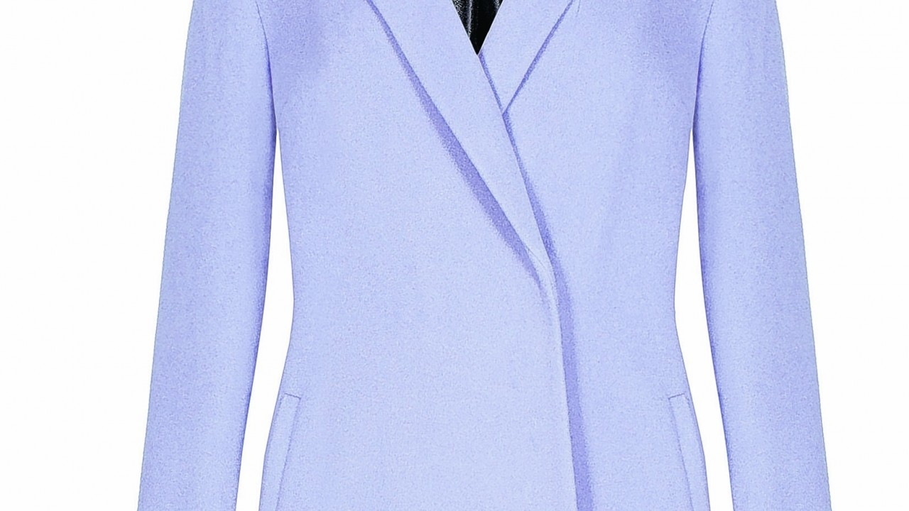 M&S Collection lilac cashmere coat, £120