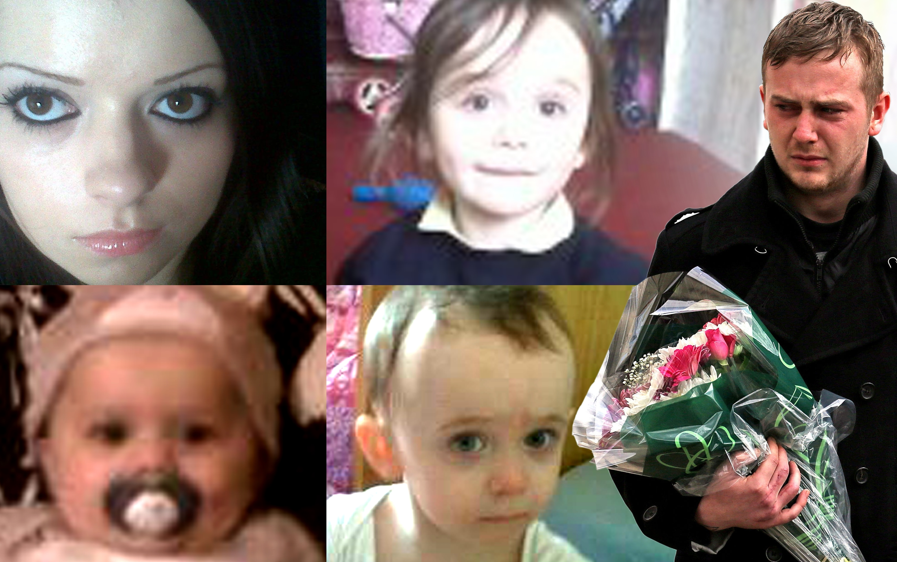 Fiona Anderson, children Levina, Kyden and Addy and the children's father Craig McLelland.