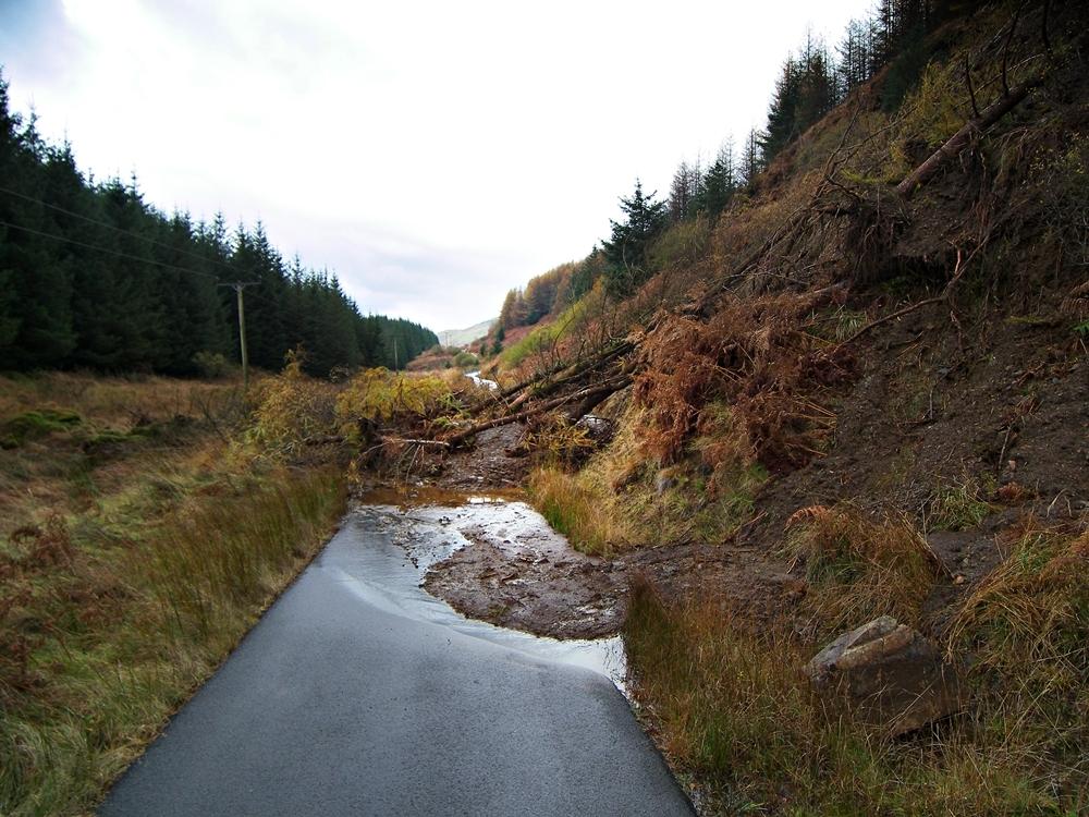 A landslide in Argyll