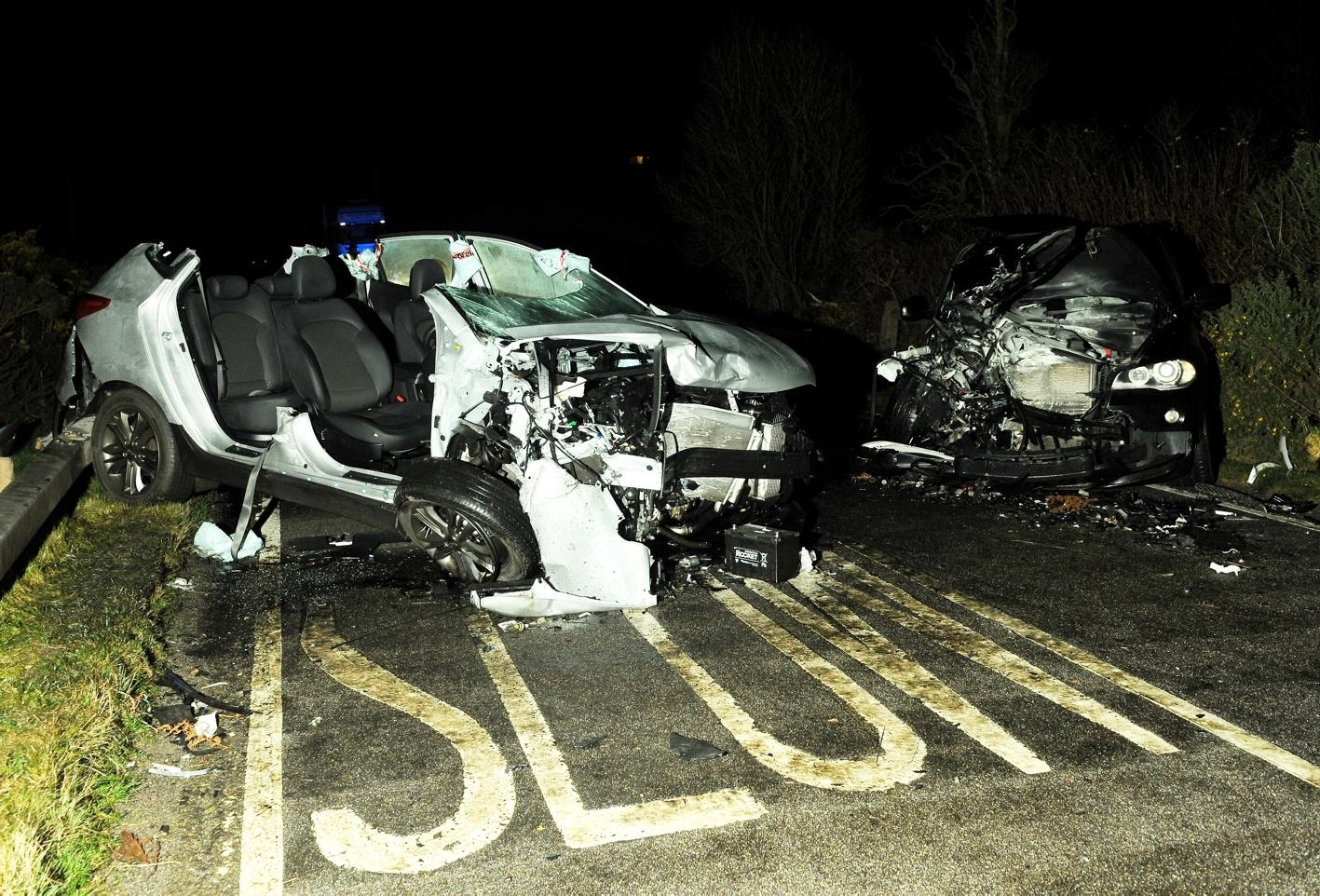 The aftermath of the accident on the A9
