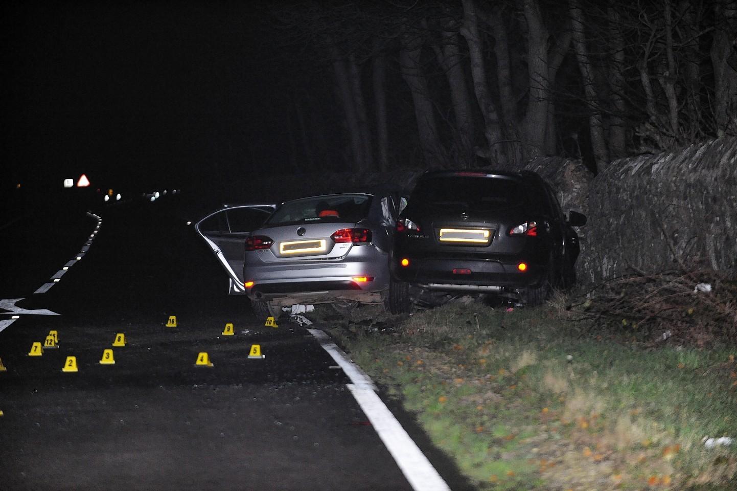 The scene of the crash on the A90 near Fraserburgh