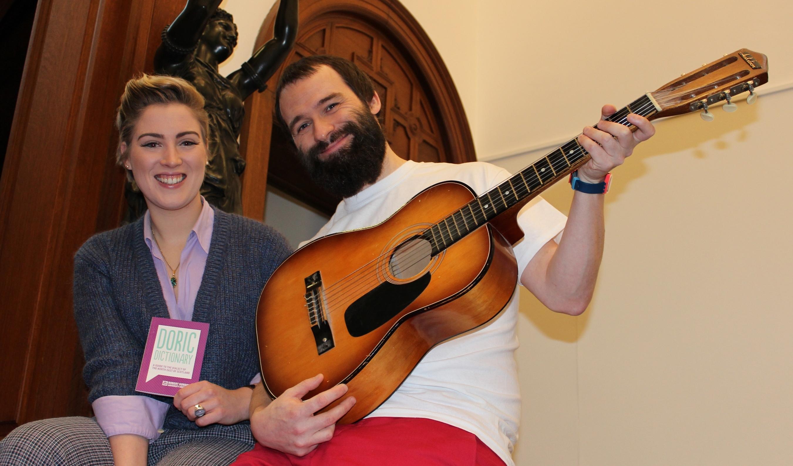 Charley Buchan and RGU animateur-in-residence Natalie Kerr