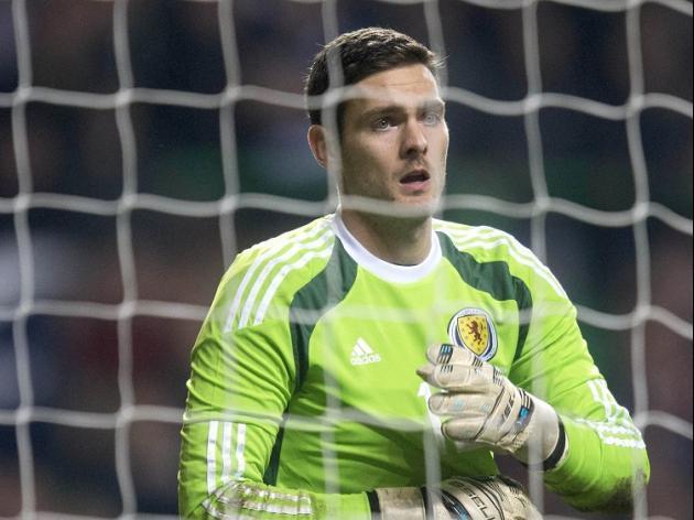 Craig Gordon made his return to the international scene against England